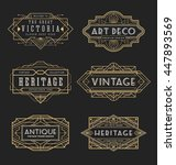 vintage line frame design for... | Shutterstock .eps vector #447893569
