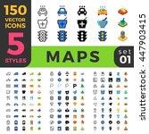 map gps navigation web mobile... | Shutterstock .eps vector #447903415
