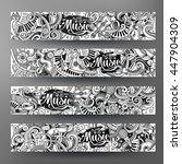 cartoon line art vector hand... | Shutterstock .eps vector #447904309