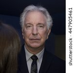 Small photo of DUBLIN, IRELAND - MARCH 2015: Actor Alan Rickman attends the premiere of his latest film, A Little Chaos, at the Jameson Dublin International Film Festival.