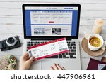 ticket bookking trip departure... | Shutterstock . vector #447906961