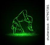 breakdancer doing a back flip.... | Shutterstock .eps vector #447907381