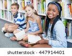 portrait of smiling school kids ... | Shutterstock . vector #447914401