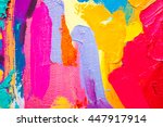 original  oil painting on... | Shutterstock . vector #447917914