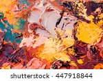 original  oil painting on... | Shutterstock . vector #447918844