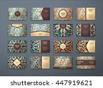 vector vintage business cards... | Shutterstock .eps vector #447919621