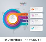 infographic design vector and... | Shutterstock .eps vector #447930754