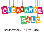 vector colorful hanging... | Shutterstock .eps vector #447932851