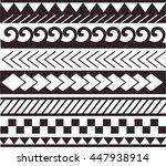 maori   polynesian style... | Shutterstock .eps vector #447938914