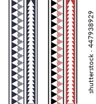 maori   polynesian style... | Shutterstock .eps vector #447938929