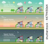beautiful set of flat vector... | Shutterstock .eps vector #447945064