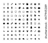 set of 100 universal icons.... | Shutterstock .eps vector #447945289