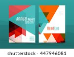 geometric design a4 size cover... | Shutterstock .eps vector #447946081