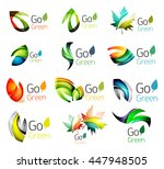 multicolored abstract leaves in ... | Shutterstock .eps vector #447948505