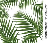 palm leaf seamless on white... | Shutterstock .eps vector #447958399