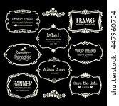 doodle vector frame set.ethnic... | Shutterstock .eps vector #447960754