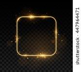 vector golden frame. shining... | Shutterstock .eps vector #447964471