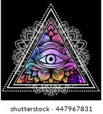 Third Eye With Floral Mandala...