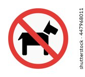 prohibition dog sign vector...