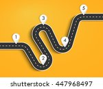 road way location infographic... | Shutterstock . vector #447968497