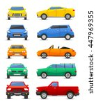 different car vehicle type... | Shutterstock .eps vector #447969355