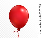 Realistic Red Balloon With...