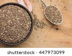 chia seed  | Shutterstock . vector #447973099