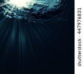 deep blue sea  abstract marine... | Shutterstock . vector #447976831