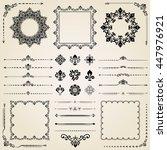 vintage set of elements.... | Shutterstock .eps vector #447976921