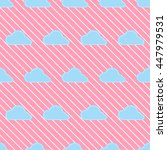 seamless cloud pattern.   cute... | Shutterstock .eps vector #447979531