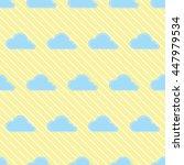 seamless cloud pattern.   cute... | Shutterstock .eps vector #447979534