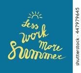 summer card poster  emblem ... | Shutterstock .eps vector #447979645