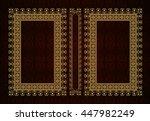 vector classical book cover.... | Shutterstock .eps vector #447982249