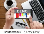 demo  demo preview  ideal ... | Shutterstock . vector #447991249