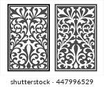 vector vintage border frame... | Shutterstock .eps vector #447996529