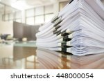 Pile Of Unfinished Documents O...