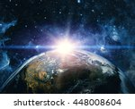 view of the earth from the... | Shutterstock . vector #448008604