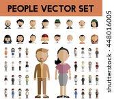diversity community people flat ... | Shutterstock .eps vector #448016005