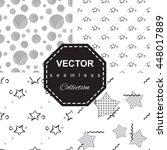 abstract monochrome star... | Shutterstock .eps vector #448017889