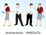 vector boy   girl silhouettes | Shutterstock .eps vector #44802670