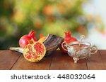 rosh hashanah  jewish new year... | Shutterstock . vector #448032064