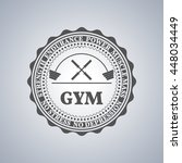 grey  emblem  logo  label for a ... | Shutterstock .eps vector #448034449