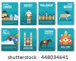 set of canada country ornament... | Shutterstock .eps vector #448034641