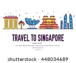 country singapore travel... | Shutterstock .eps vector #448034689