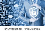 data protection and insurance.... | Shutterstock . vector #448035481