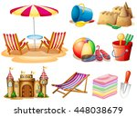 Beach Set With Seat And Toys...