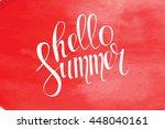 summer watercolor design....   Shutterstock .eps vector #448040161