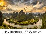 xianggong hill landscape of... | Shutterstock . vector #448040407