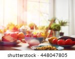 balanced diet  cooking ... | Shutterstock . vector #448047805