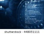 digital abstract technology... | Shutterstock . vector #448051111